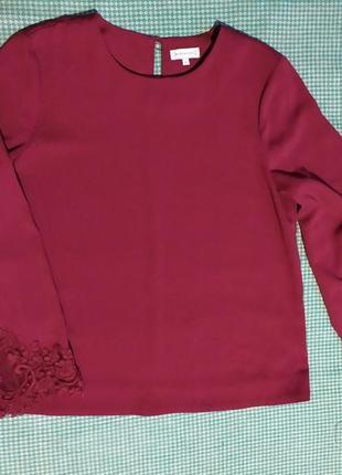 Стильная шикарная блуза цвета марсала или винного