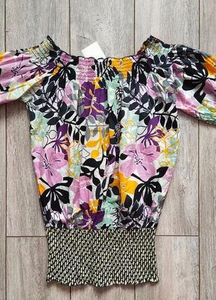 Новая шикарная блузка dept 44-46р хлопок